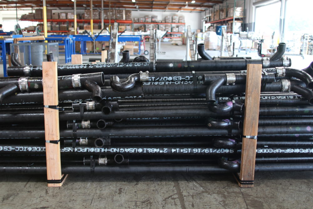 AMPAM Warehouse fabrication pipes