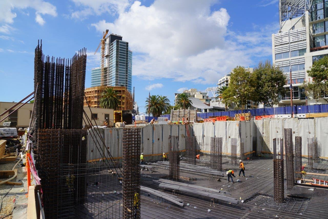 Library Tower Site with Construction San Diego Web